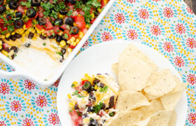 7 Layer Taco Dip | realmomkitchen.com