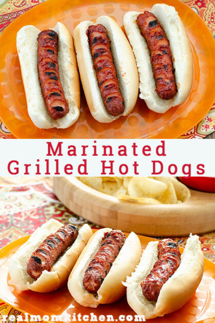 Marinated Grilled Hot Dogs | realmomkitchen.com
