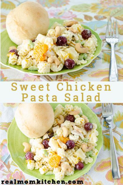 Sweet Chicken Pasta Salad | realmomkitchen.com