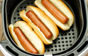 Air Fryer Hot Dogs | realmomkitchen.com