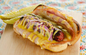 Cuban Style Hot Dogs | realmomkitchen.com