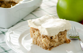 Apple Cake with Maple Frosting | realmomkitchen.com