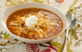 Slow Cooker Tortilla Soup | realmomkitchen.com