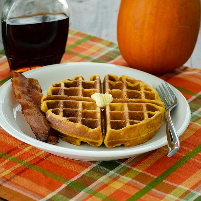 Yeasted Pumpkin Waffles | Real Mom Kitchen | Breakfast