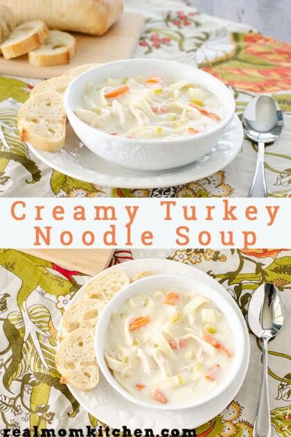 Creamy Turkey Noodle Soup | realmomkitchen.com