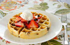 Chocolate Chip Waffles | realmomkitchen.com