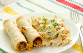 Cheesy Hot Dog Taquitos | realmomkitchen.com