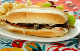 Ham Bacon and Mushroom Hoagies | realmomkitchen.com