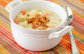 Low Carb Cauliflower Chowder   realmomkitchen.com