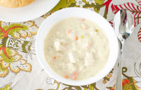 Creamy Chicken Rice Soup | realmomkitchen.com