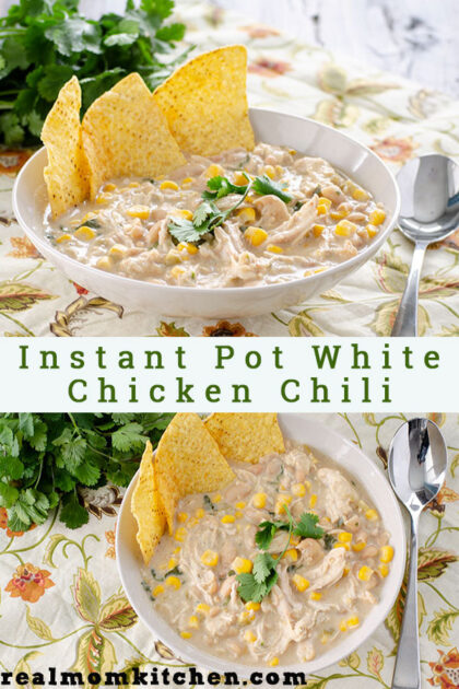 Instant Pot White Chicken Chili | realmomkitchen.com