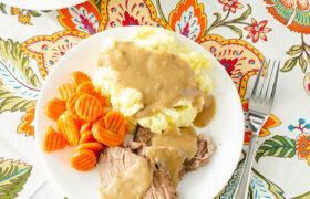 Crock Pot Pork Roast with Gravy | realmomkitchen.com