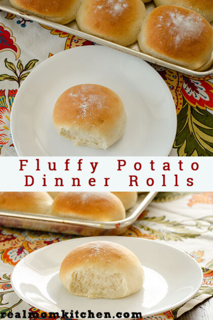 Fluffy Potato Dinner Rolls | realmomkitchen.com