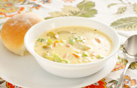 Creamy Cheesy Vegetable Soup | realmomkitchen.com