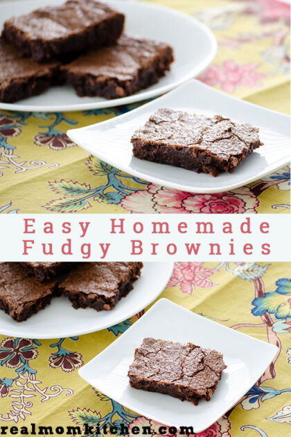 Easy Homemade Fudgy Brownies | realmomkitchen.com