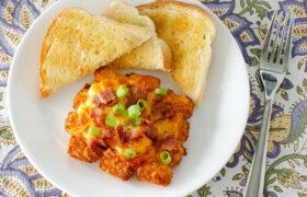 Sheet Pan Breakfast Stacks | realmomkitchen.com