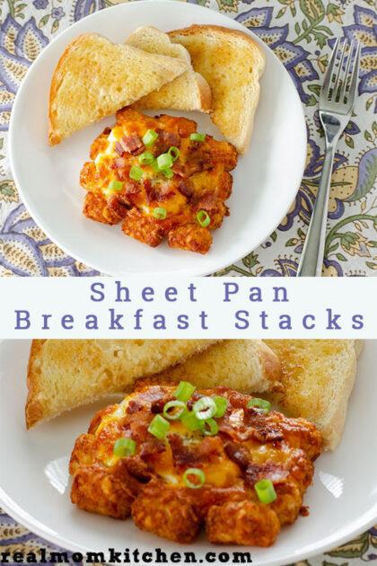 Sheet Pan Breakfast Stacks | realmomkitcen.com