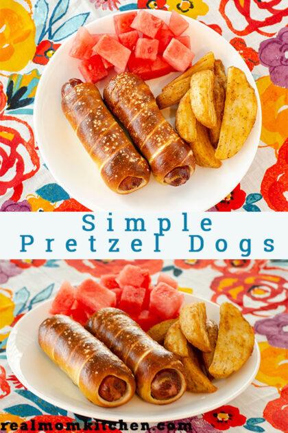 Simple Pretzel Dogs | realmomkitchen.com
