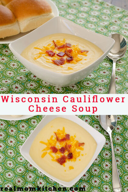 Wosconsin Cauliflower Cheese Soup | realmomkitchen.com