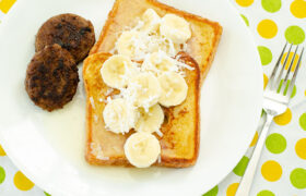 Blender French Toast with Coconut Syrup | realmomkitchen.com