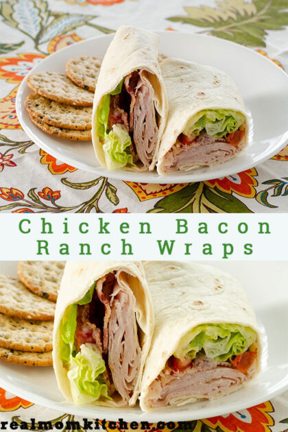 Chicken Bacon Ranch Wraps | realmomkitchen.com