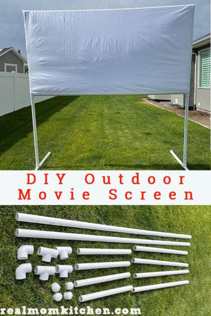 DIY Outdoor Movie Screen   realmomkitchen.com
