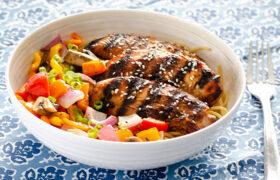 Grilled Sesame Chicken Noodle Bowls | realmomkitchen.com