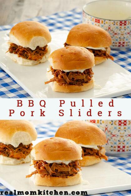 BBQ Pulled Pork Sliders | realmomkitchen.com
