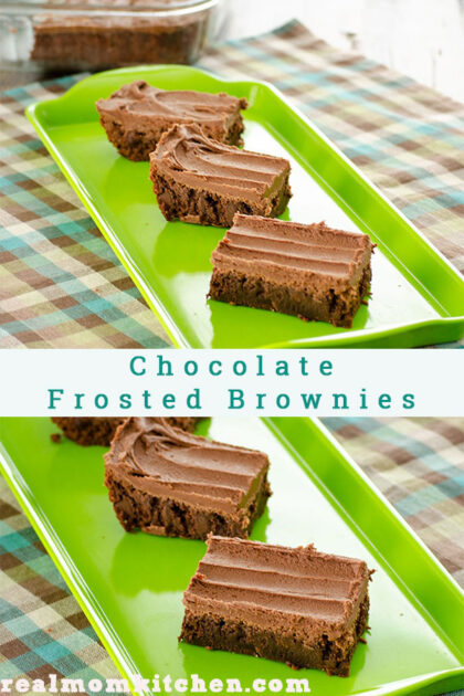 Chocolate Frosted Brownies | realmomkitchen.com