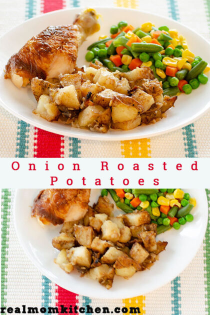 Onion Roasted Potatoes   realmomkitchen.com