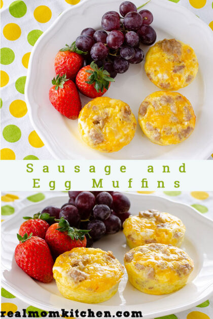 Sausage and Egg Muffins | realmomkitchen.com