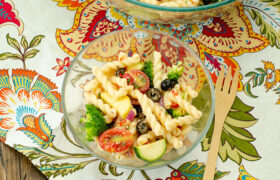 Summer Vegetable Pasta Salad   realmomkitchen.com