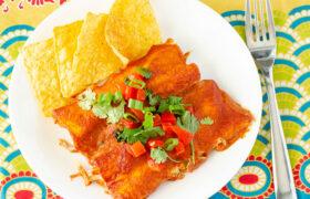 Weeknight Chicken Enchiladas | realmomkitchen.com