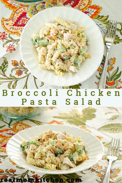 Broccoli Chicken Pasta Salad   realmomkitchen.com
