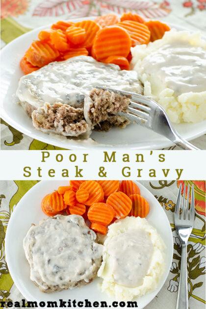 Poor Man's Steak and Gravy | realmomkitchen.com