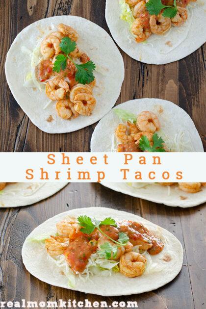 Sheet Pan Shrimp Tacos   realmomkitchen.com