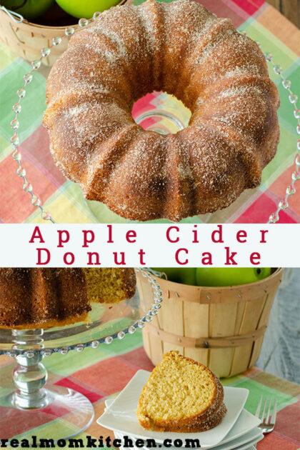 Apple Cider Donut Cake | realmomkitchen.com