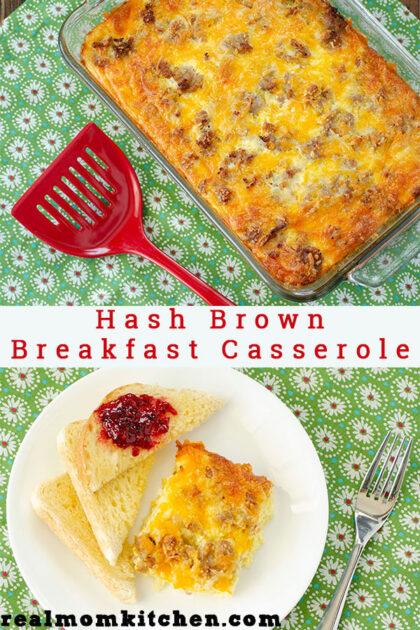 Hash Brown Breakfast Casserole   realmomkitchen.com
