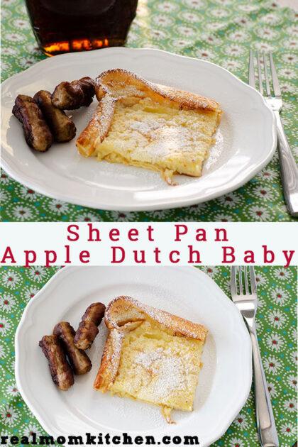 Sheet Pan Apple Dutch Baby   realmomkitchen.com